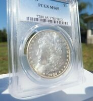 1902 O MORGAN SILVER DOLLAR PCGS MINT STATE 65 $1 COIN .SLIGHT TONING ON BOTH SIDES