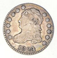 1824 CAPPED BUST DIME 2437