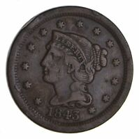 1843 BRAIDED HAIR LARGE CENT - CIRCULATED 9937