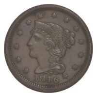 1846 BRAIDED HAIR LARGE CENT 4808