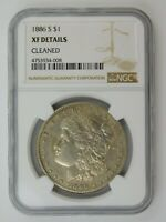 1886 S MORGAN SILVER DOLLAR NGC GRADED EXTRA FINE  DETAILS CLEANED 617