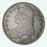 1826 CAPPED BUST HALF DOLLAR - CIRCULATED - 3244