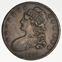 1834 CAPPED BUST HALF DOLLAR - CIRCULATED 0195