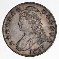 1827 CAPPED BUST HALF DOLLAR - UNCIRCULATED 1882