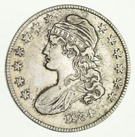 1834 CAPPED BUST HALF DOLLAR - CIRCULATED 2672