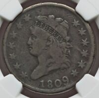 1809 CLASSIC HEAD LARGE CENT NGC VG10
