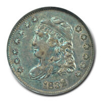 1832 H10C CAPPED BUST HALF DIME ANACS EXTRA FINE 45