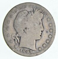 BETTER 1897 S   US BARBER 90  SILVER HALF DOLLAR COIN COLLEC