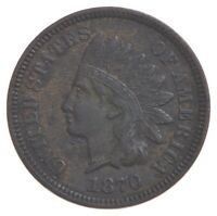BETTER 1870   US INDIAN HEAD CENT PENNY   COIN COLLECTION LO