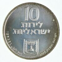 SILVER   WORLD COIN   1972 ISRAEL 10 LIROT   WORLD SILVER CO