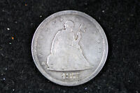 ESTATE FIND 1875 S SEATED LIBERTY TWENTY CENT PIECE  D14924