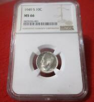 1949 S NGC MS 66 ROOSEVELT SILVER DIME
