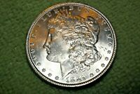 A56,MORGAN SILVER DOLLAR-SELDOM SEEN VAM 10A 1887 P AU