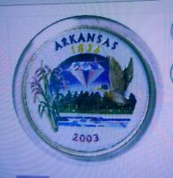 SET OF P AND D COLORIZED STATE QUARTERS ARKANSAS 2003