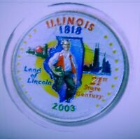SET OF P AND D COLORIZED STATE QUARTERS ILLINOIS 2003