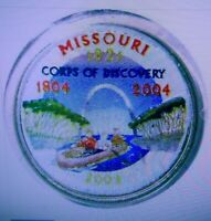 SET OF P AND D COLORIZED STATE QUARTERS MISSOURI 2003
