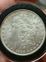 1885-P MORGAN SILVER DOUBLED 5 VARIETY VAM ONE DOLLAR UNCIRCULATED COIN