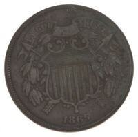 1865 TWO CENT PIECE   PRESTIGE COIN COLLECTION  437
