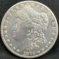 1879 CC MORGAN SILVER DOLLAR VF/EXTRA FINE  DETAILS CARSON CITY KEY DATE COIN