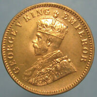 GEM BU 1936 C GEORGE V BIRTISH INDIA ONE QUARTER ANNA
