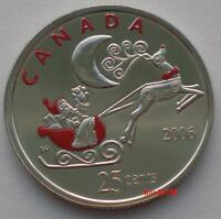 2006 P 25 CENTS SANTA CLAUS AND RUDOLPH COLORIZED    BEST PRICE ON EBAY