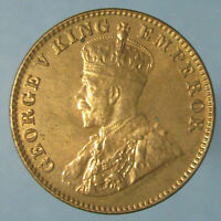 RED BU 1936 B GEORGE V ONE QUARTER ANNA