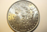 A58,MORGAN SILVER DOLLAR-SELDOM SEEN 1887 P VAM 14A AU
