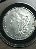 1898--P MORGAN VAM 4 - NEAR DATE DOUBLED 8 SILVER ONE DOLLAR VARIETY COIN