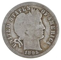 BETTER 1895   US BARBER LIBERTY SILVER DIME COIN COLLECTION