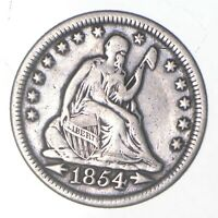 1854 SEATED LIBERTY QUARTER   CHARLES COIN COLLECTION  063