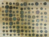 LOT OF 108 DETAILED ANCIENT ROMAN COINS LARGEST IS 28 MM
