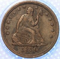 1856 P SEATED LIBERTY QUARTER SHARP OLDE EARLY AMERICAN SILVER COIN