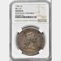 1794 FLOWING HAIR DOLLAR, NGC  B-1 BB-1 R-4 ONE OF ONLY 134 SURVIVORS