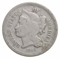1866 NICKEL THREE CENT PIECE   CHARLES COIN COLLECTION  547