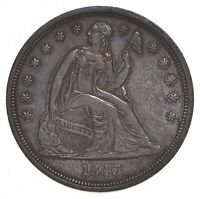 1843 SEATED LIBERTY SILVER DOLLAR 5379