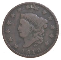 1819 MATRON HEAD LARGE CENT   CHARLES COIN COLLECTION  366
