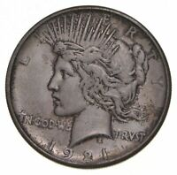 1921 PEACE SILVER DOLLAR - KEY DATE - HIGH RELIEF 5385