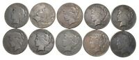 LOT OF 10 1928 PEACE SILVER DOLLARS 5833