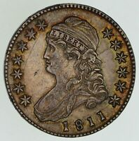 1811 CAPPED BUST HALF DOLLAR - SMALL 8 NEAR UNCIRCULATED 4861