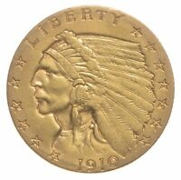 1910 $2.50 QUARTER EAGLE INDIAN HEAD   U.S. GOLD COIN  262