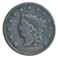 BETTER 1832 MATRON HEAD US LARGE CENT PENNY COIN COLLECTION