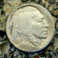 1916D BUFFALO NICKEL VF DETAILS RB3130 55C SHIPPING,SHIPS FREE ON 3 OR MORE