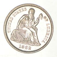 1862 SEATED LIBERTY DIME   GREENBERG COIN COLLECTION  947