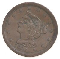 1851 BRAIDED HAIR HALF CENT   CHARLES COIN COLLECTION  388