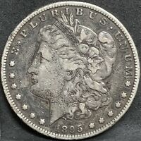 1895 S MORGAN SILVER DOLLAR VF/EXTRA FINE  DETAILS KEY DATE SAN FRANCISCO MINT COIN
