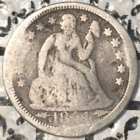 1854 SEATED LIBERTY DIME WITH ARROWS ONLY 4.5 M MINTED  US COIN