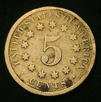 1872 US SHIELD NICKEL 5 CENTS 5C  DATE UNGRADED SOLID FILLER US COIN CC890