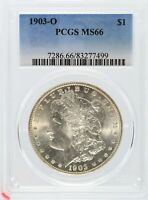 1903-O MORGAN SILVER DOLLAR $1 PCGS MINT STATE 66 CERTIFIED COIN - JD869
