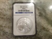 2007 SILVER EAGLE NGC MINT STATE 69 EARLY RELEASE