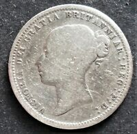 1873 GREAT BRITAIN SIXPENCE   NICE  SILVER COIN    814